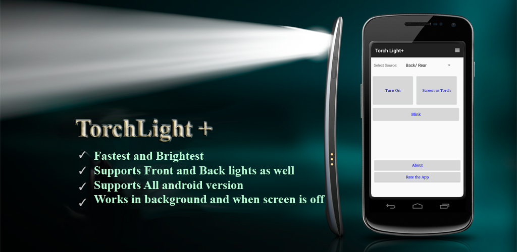 Torchlight / flashlight android app