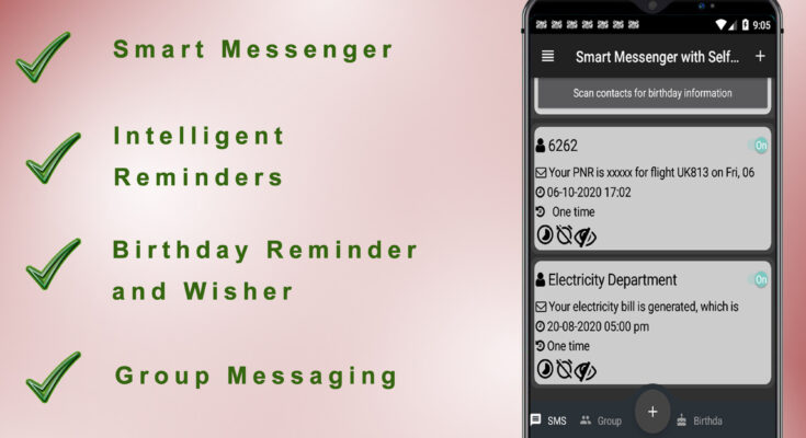 smart messenger with self reminders