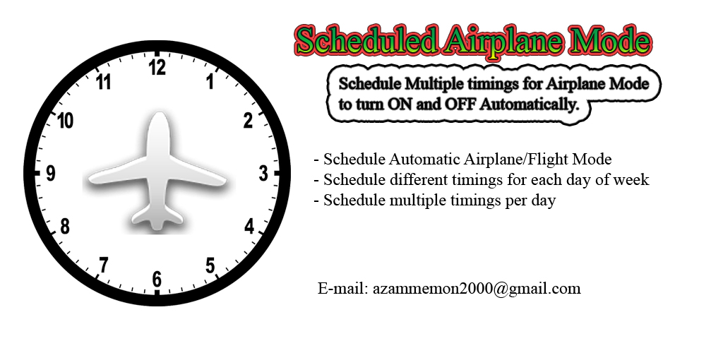 Scheduled Airplane Mode - An android app