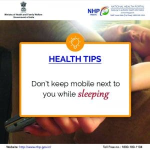 keep smartphone away when sleeping