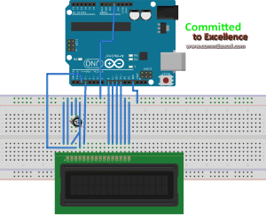 character lcd interfacing with arduino