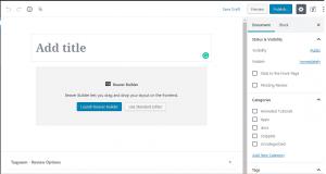 To enable old wordpress editor instead of new WordPress 5 block editor