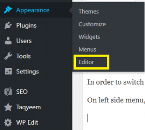 enable old wordpress editor instead of new block editor